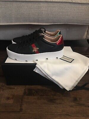 Gucci Ace Embroidered Platfrom Sneakers