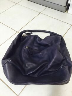 Large dark purple all leather bag Dubbo 2830 Dubbo Area Preview