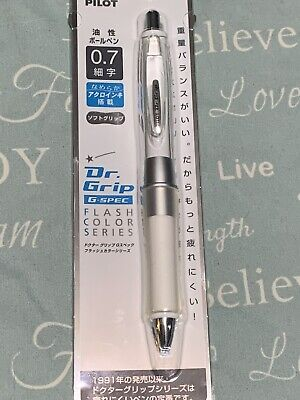Uneek -- Wow Dr Grip White Pen. All Silver Accessories
