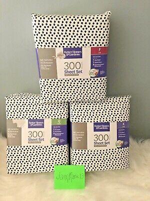 Better Home Gardens Black White Dot Sheet Set Cotton Sateen Full Queen King
