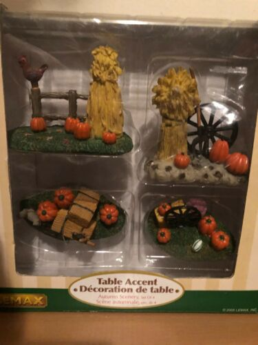 Lemax Spooky Town Autumn Scenery #53515 Retired Harvest Crossing