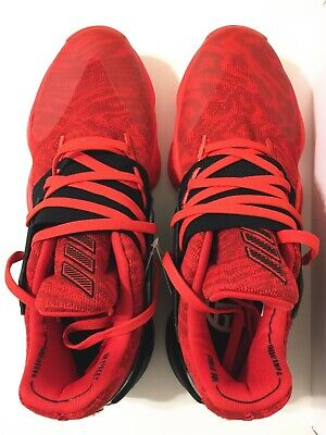 NIB MEN'S ADIDAS HARDEN VOL.4 BASKETBALL SHOES Red/Core Black/Power Red 12