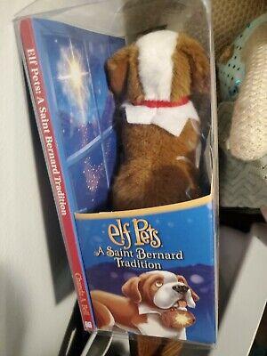 Elf on the Shelf Pets Saint Bernard Tradition * Toy Dog + Book * NEW Sealed