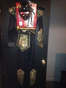 Warrior ninja costume sz 12-14
