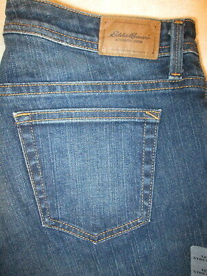 Eddie Bauer Shaped Boot Cut Stretch Womens Blue Denim Jeans Size 12 x 32 -