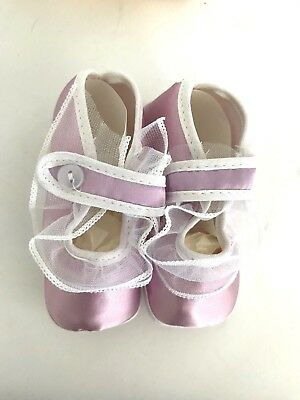 Tv Toddlers (Vintage Gold Bug Baby Girls Infant Shoes Ballet Pink Purple Tv Booties Size)