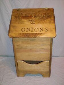 potatoe  and onion bin  with bottom design