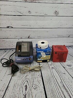 Brother P-touch Ql-550 Thernal Transfer Label Printer Bundle. Tested W 5 Rolls
