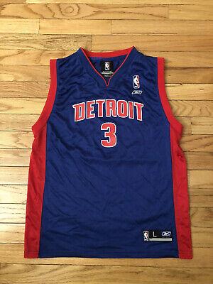 Ben Wallace Detroit Pistons NBA Reebok Jersey Youth Size L (14-16)