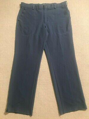 Nike Tiger Woods Collection Men's Flat Front Dri-Fit Golf Pants Blue Sz 36x30 #N