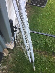 Clothesline metal inground