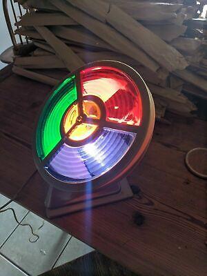 Vintage Colortone Electric Roto-wheel Christmas Tree Light Rare aluminum ()