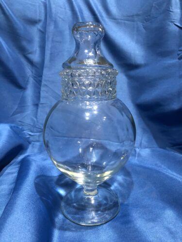 "Antique DAKOTA Apothecary Jar Glass 10"" Height"