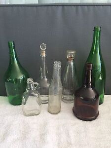 10 Vintage Bottles.  Wine and Household Kotara South Lake Macquarie Area Preview