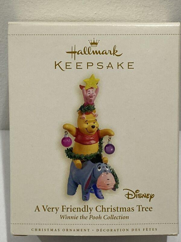 Hallmark Keepsake Ornament Disney A Very Friendly Christmas Tree 2006