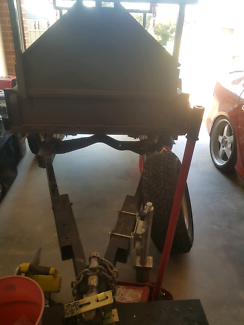 Offroad 6x4 tradie trailer on hilux rear chassis