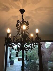 Elegant Black Glass Chandelier Barden Ridge Sutherland Area Preview