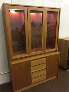 Teak China Cupboard/ Buffet Display case - vintage