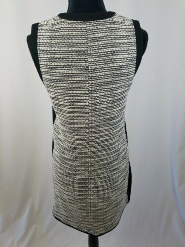 Madewell femme 0 noir/blanc tweed tissage robe droite sans manche