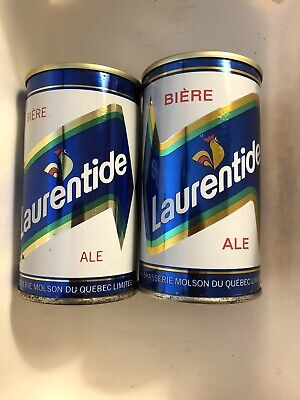 Laurentide 12oz pull tab beer cans Molson Brewing  Montreal, CANADA