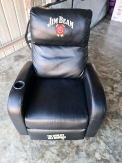 Black Leather Jim Beam Recliner Chair | Armchairs | Gumtree