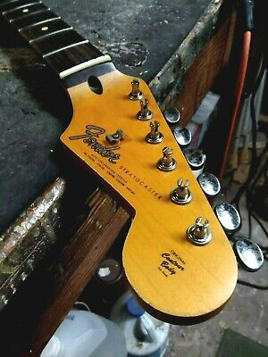 Genuine Fender Lic Relic Strat neck Aged Nitro 65 Stratocaster Mr G Custom