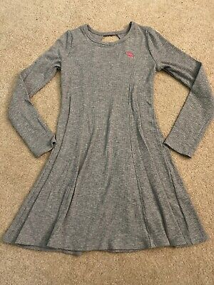 Abercrombie Kids Girls Size 9/10 Grey Ribbed Skater Dress