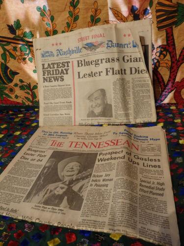 Nashville Banner The Tennessean newspaper Lester Flatt Bluegrass legend Dies