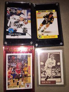 Variety of baseball/hockey/ basketball cards