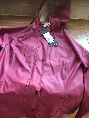 Ilse Jacobsen Light Raincoat Rain87 in  Maroon Size 34 UK Size 8