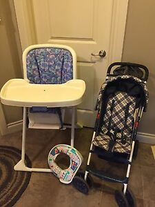 High chair, Stroller, etc