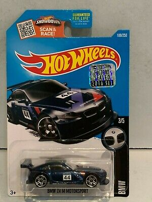 2016 HOT WHEELS BMW  #3/5 - #188/250 BMW Z4 M MOTORSPORT FACTORY SEALED 1:64 3+