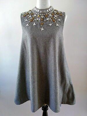Qinpei Er For Stylewe Gray Rhinestone Embellished A Line Dress Size Medium