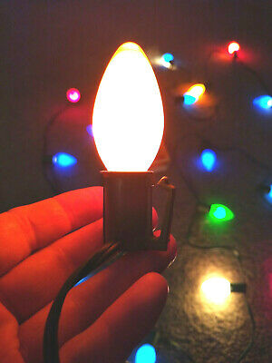 Vintage String Of 25 C9 CHRISTMAS LIGHTS BULBS + 4 GE Replacement Outdoor Lamps!