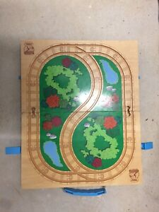 Thomas the Tank Engine wooden track and storage. A few scrapes $10. Beaudesert Ipswich South Preview