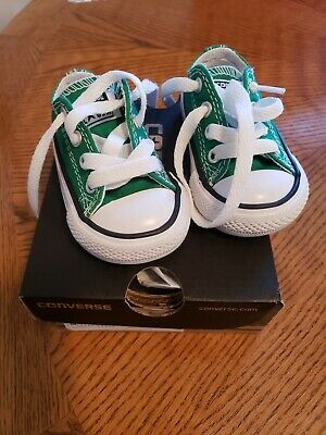 Converse All Star Chuck Taylor Size 3 infant Kelly GreenTennis Shoes.