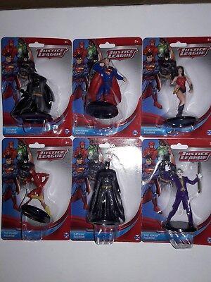 Justice League DC Comics Action Figures / Cake Topper ENTIRE Set of 6   2 1/2