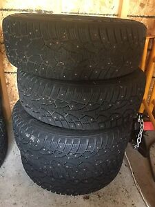 4 Winter General Altimax Artic Studded Tires. 195/65 R15