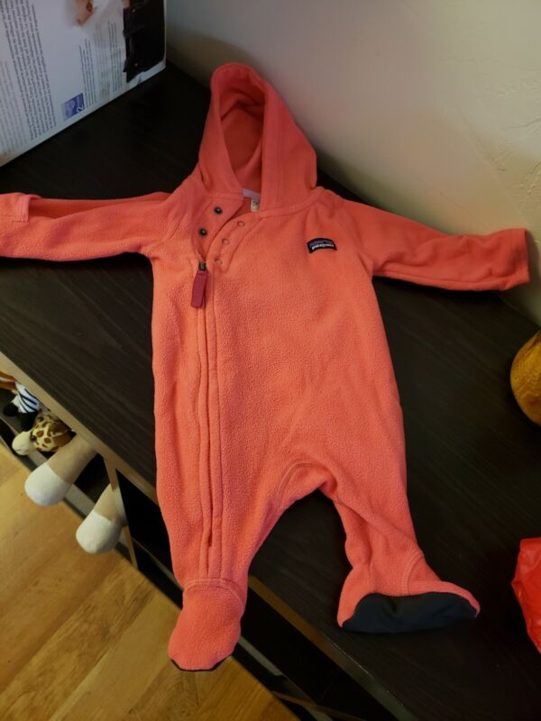 Patagonia Infant Baby Girls Micro-D Fleece Bunting Suit Newborn