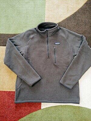 Patagonia Mens Medium Better Sweater 1/4 Zip Heathered Brown