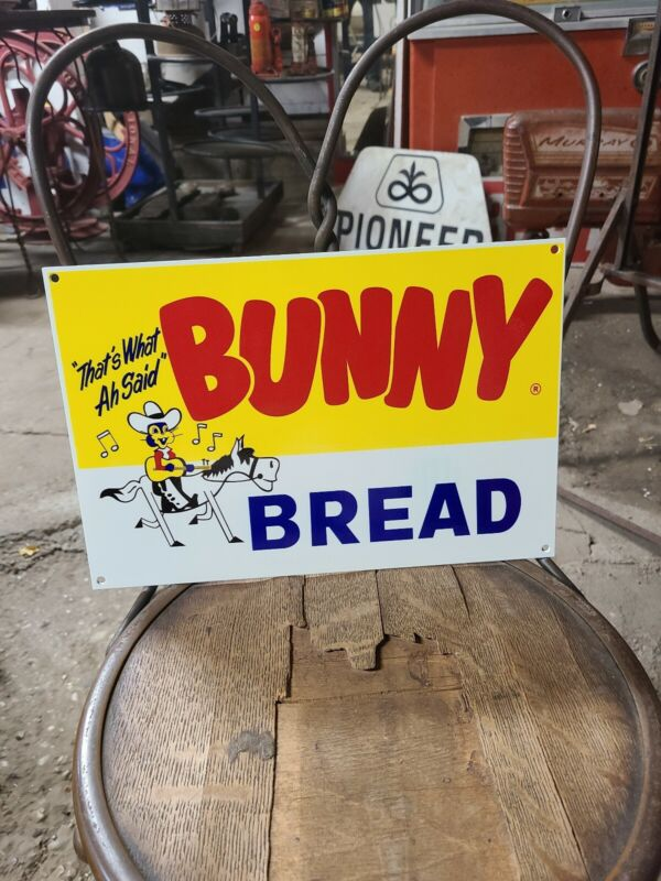 Bunny Bread Sign Tractor Gas Oil Bull Cow Seed Feed