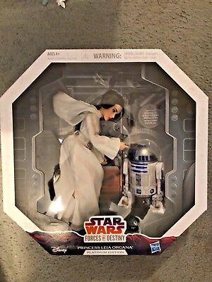 Star Wars Forces Of Destiny Princess Leia R2 D2 Platinum Edition Brand New Bnib