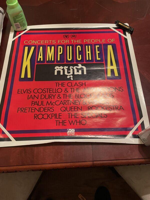 concert for kampuchea Vintage Poster