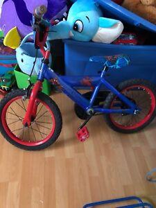 Kids Spider-Man bike $20