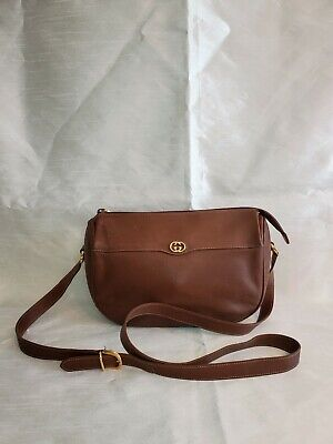 Vintage Gucci Crossbody Bag brown Leather