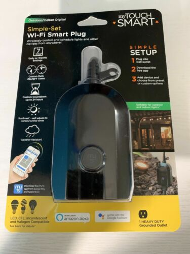 My Touch WiFi Smart Switch Outdoor Indoor Digital Plug Alexa Google Assistant