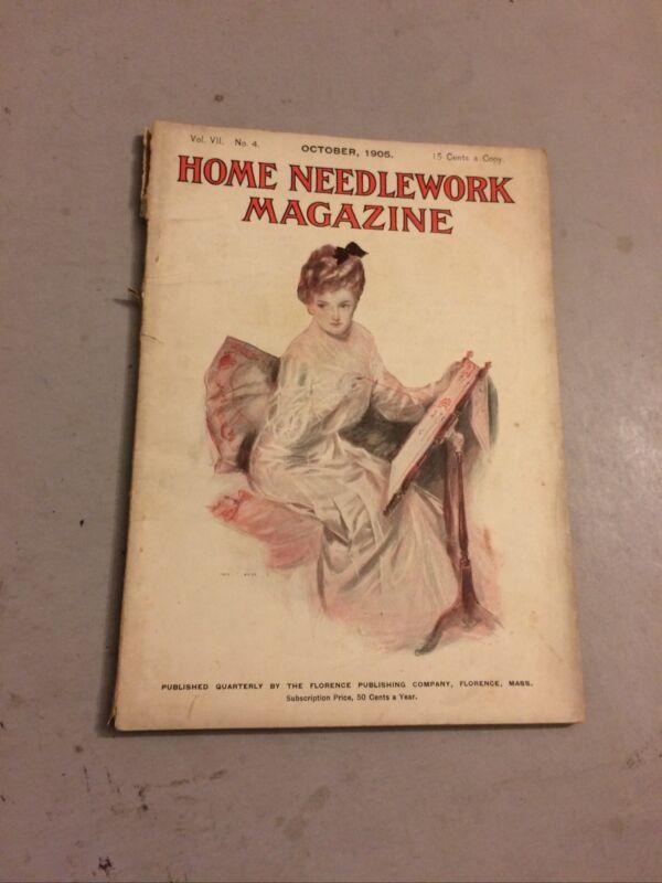 Home Needlework Magazine October 1905 Candy Ad Henry Hutt Fashion Knitting 1900s