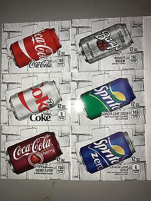 Pick 8 Flavor Tab Strips Big Label Coke Pepsi Soda Vending Machine Vendo Dixie