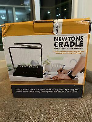 Newtons Cradle Steel Balance Balls Desk Physics Science Pendulum Desk Toys