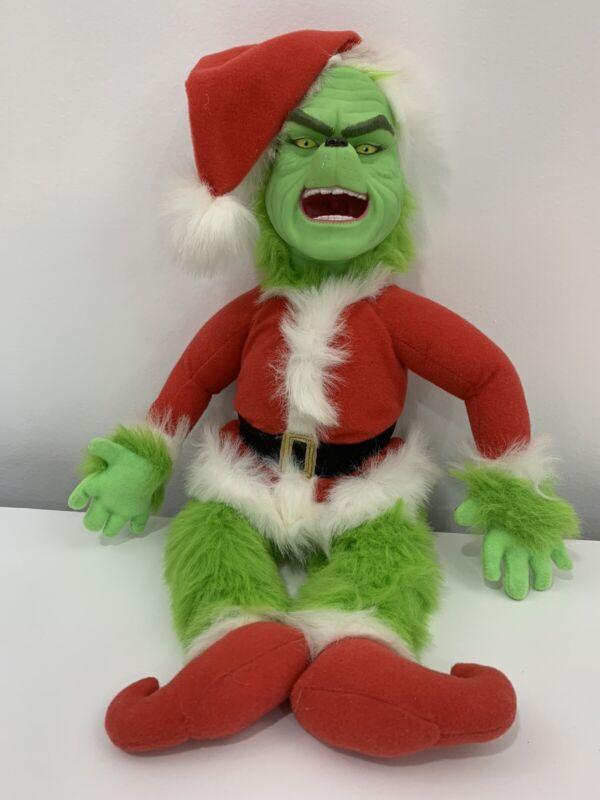 Dr. Seuss Grinch Stole Christmas plush doll toy 2000 Jim Carrey
